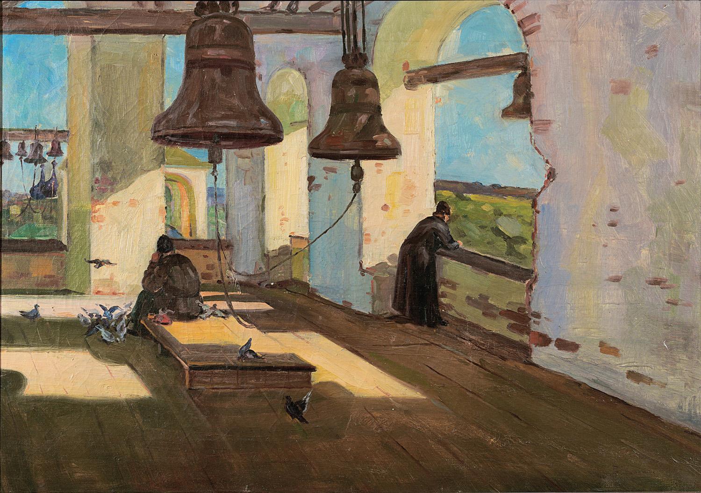 Μοναχοί σε καμπαναριό