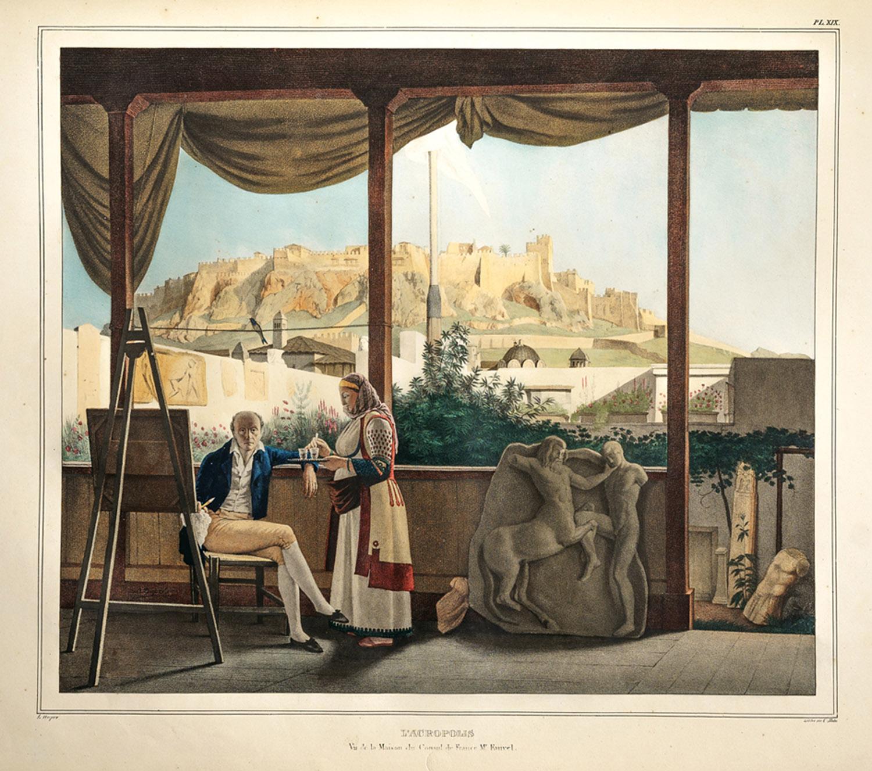 Voyage à Athènes et à Constantinople, ou collection de portraits, de vues et de costumes grecs et ottomans.