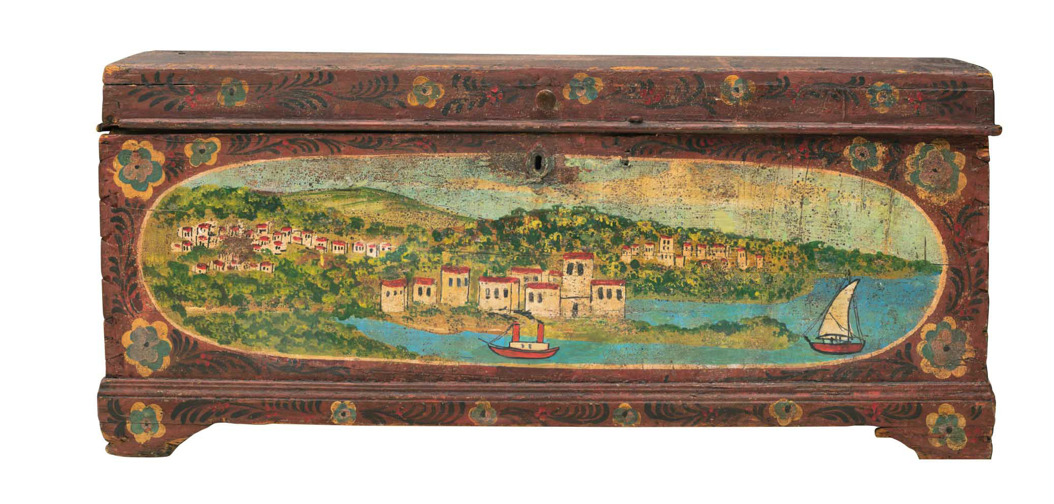 Ξύλινη ζωγραφιστή κασέλα (τέλη 19ου αιώνα)