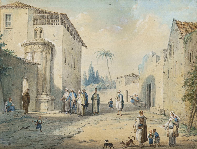 Επίσκεψη περιηγητών στη Μονή Καπουτσίνων της Αθήνας