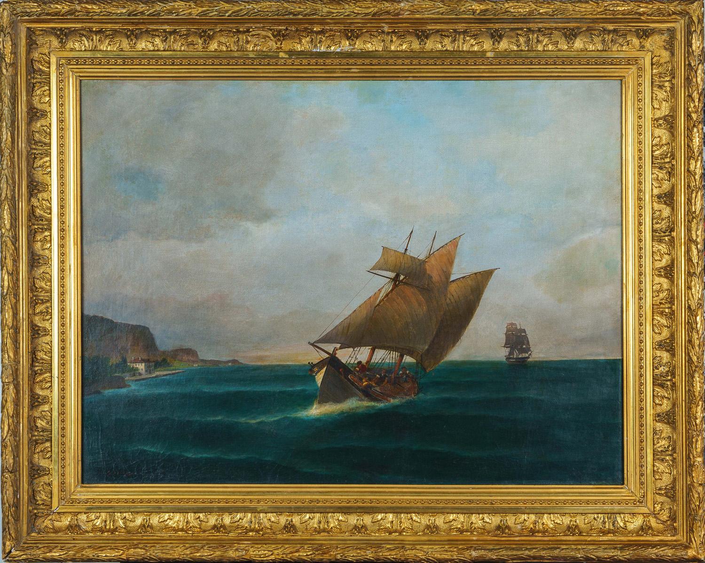 Βάρκα στη θάλασσα του Βόλου [1890-95]